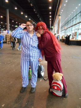 EpicCon Frankfurt 2016 cosplay: Grell and Will PJs by Lalottered