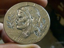 engraved coin by blksun