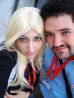 Me and DDark at Lucca by AuraRinoa