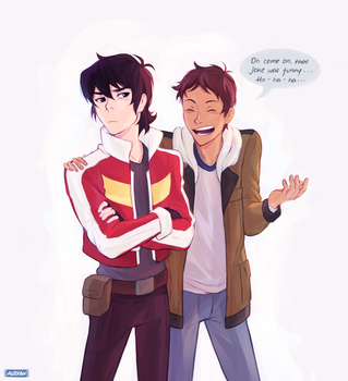 Lance just wants to see Keith laugh :) by alex-29