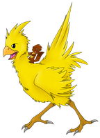 MARTY RIDES CHOCOBO by Nukeleer