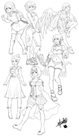 Sketch Dump 2 by hahahayuus