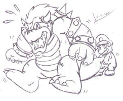 mario vs bowser by BerserkerOx