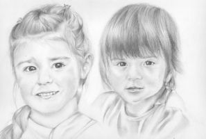 One portrait of two lovely kids by Reckless-Snowflake