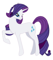 Rarity, My Little Horsey by MagicaRin