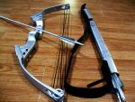 Katniss Silver Bow and Arrows by EricaKane