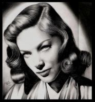 Lauren Bacall Portrait by yana182