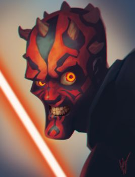 Darth Maul by dreelrayk