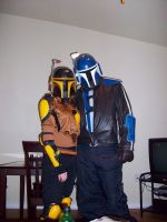 Mandalorian Couple by ImperialSugar