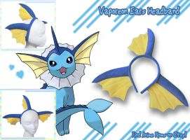 Vaporeon Headband by AnimeNomNoms