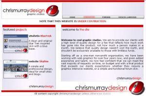 Chris Murray Design website by Hayter