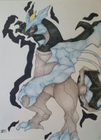 Black Kyurem by ilovereshiram01