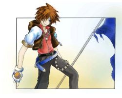 Sora in a stance - second try by AliasMyself