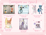 Commissions Flyer by Xecax