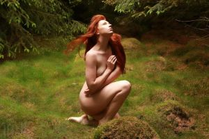 nin the moss by ChrissieRed