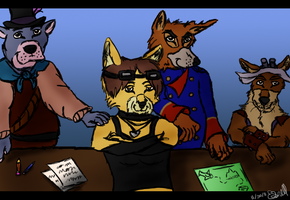 Pirate Gang by CanineCanvas