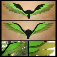 Neon Green Cyber Wings by CraftyWingy