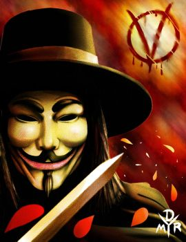 V for Vendetta by BrokenHAX