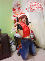 Merry Christmas from Claire Redfield by Queen-Stormcloak