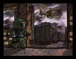 Hiding from the law by Yoblicnep