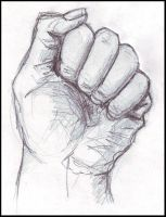 study of a hand by Agniech