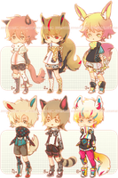 Set Price $10 : Semi-Chibi Set 3 [CLOSED] by HyRei