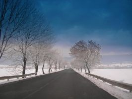 winter roads by oblious