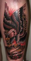 eagle tattoo by xveganmafiax