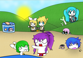 VOCALOIDS AT THE BEACH 8D by KotoneHaruka