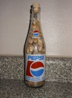 Seashell Filled Bottle Pepsi by lizking10152011