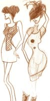 Two dresses by LadyHazy