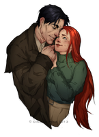 Derek and Kayleen color for Bistraja by WieldstheKey