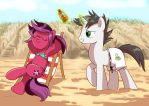 Chillin' on the beach by Adlynh