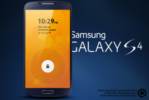 Samsung Galaxy s4 lock screen.PSD by OQstudio