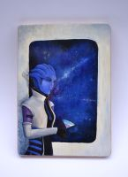 Aria: Mass Effect Cutting Board by DoodleDuo