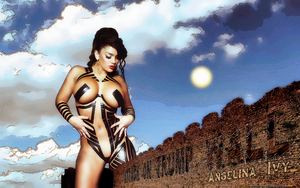BABEWORLD#384: ANGELINA IVY: ATTACK ON TRUMP WALL by CSuk-1T