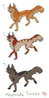 Fox Adoptables by Joava