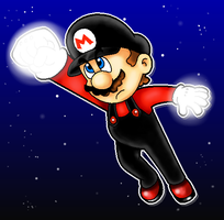 Flying Mario by MushroomWorldDrawer