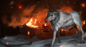 Rudolph the red nose reindeer by Shattered09
