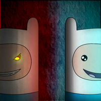 Good and Evil Finn by Mid25