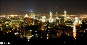 Montreal at Night by Schuma