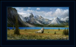 rocky mountains scene attempt VIa by andrekosslick