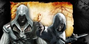 Ezio and Altair by RikyGontier