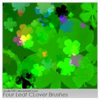 Four Leaf Clover Brushes by Scully7491