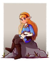 BotW Zelda (Quick Drawing) by Chromel