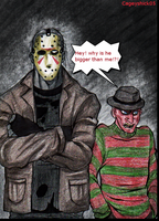 Jason Voorhees and Freddy -Remake- by Cageyshick05