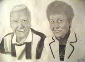 Pencil Drawing Portrait Grandparents by AniraFarinA