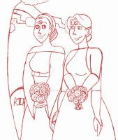 The Wedding of Heather and Stephanie Moore WIP by LadyQueenBee