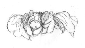 WIP Sleepy Snuggles by Captain-Dorkalicious