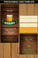 Pub Business Card Template by Hotpindesigns